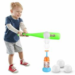 2-in-1 T-Ball Automatic Launcher Baseball Bat Outdoor Games