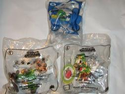 3 LOT McDonald's Super Mario Yoshi Launcher 3 Luigi Fireball