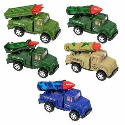 5-Pack Boys Push & Go Military Toy Vehicle with Missile Laun