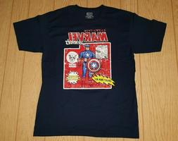 Marvel Comics Captain America Shield Launcher T-Shirt Size L