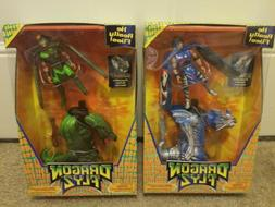 DRAGON FLYZ Z'NETH & SUMMIT Flying Action Figures Launcher G