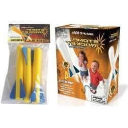 Stomp Rocket Junior Glow Kit with Extra Jr. Glow Rocket Refi