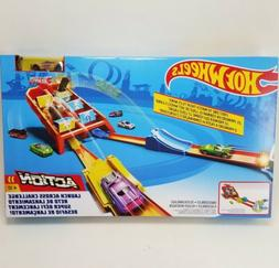 Hot Wheels Action Launch Across Challenge Track Set New In B