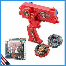 Kids Rare 4D Launcher Grip Beyblade Set Metal Master Fusion
