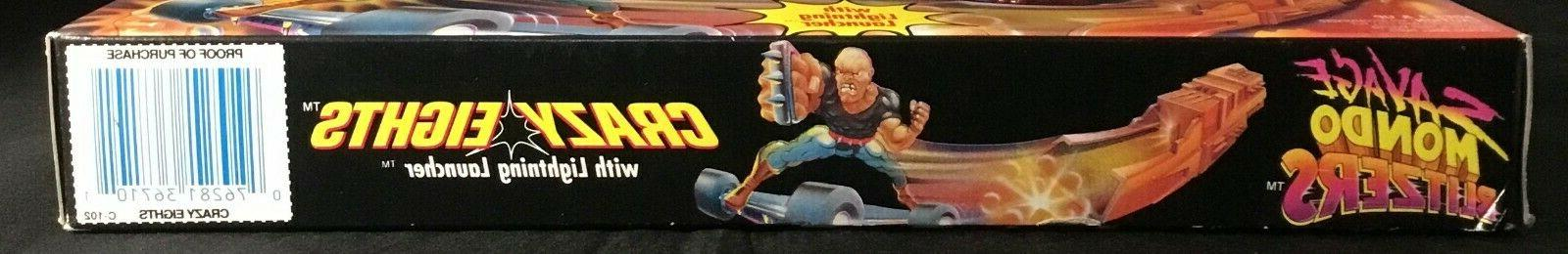 1992 Kenner Savage Mondo Blitzers Eights Lightning Launcher Sealed