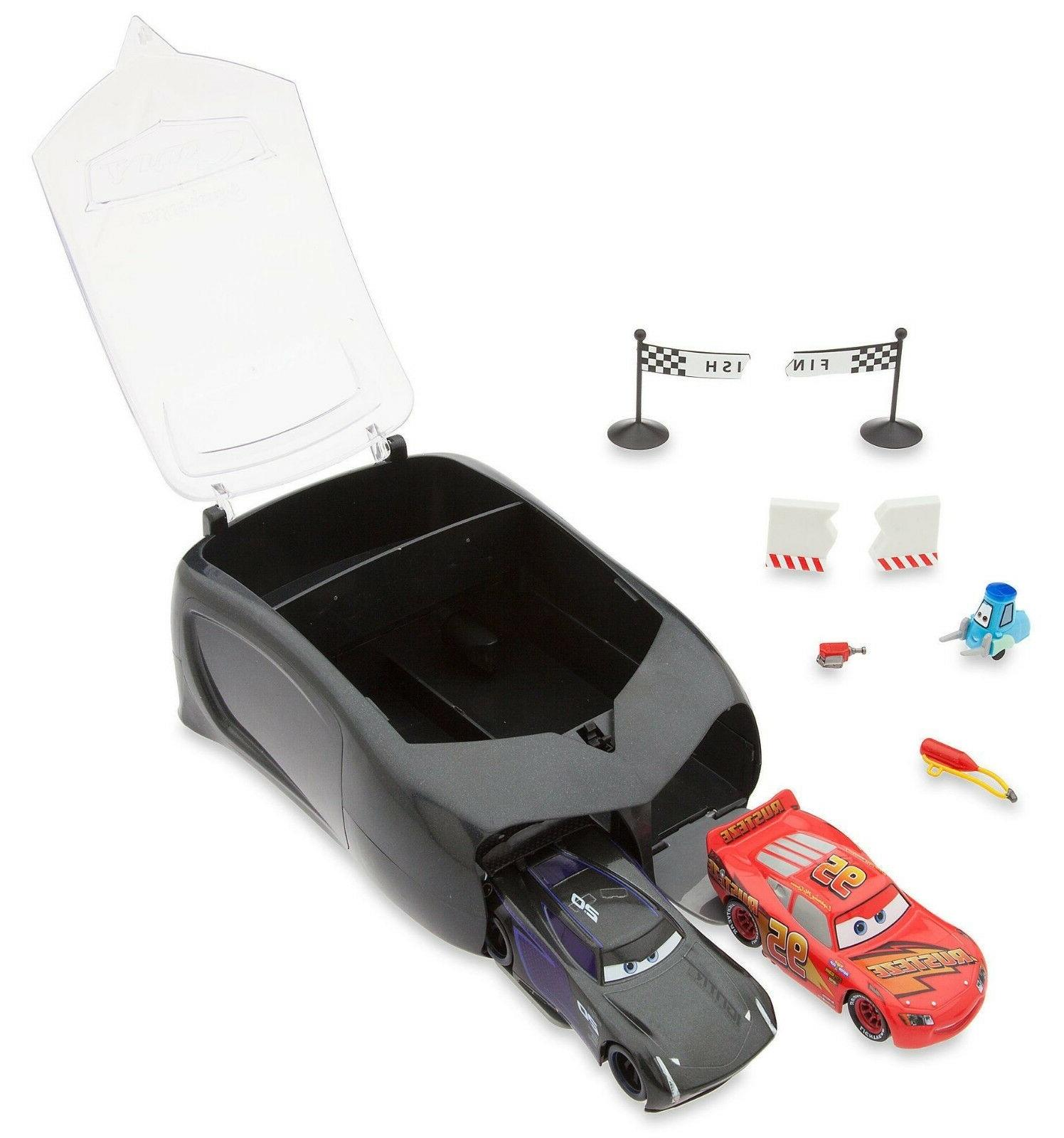 cars 3 pit crew launcher set jackson