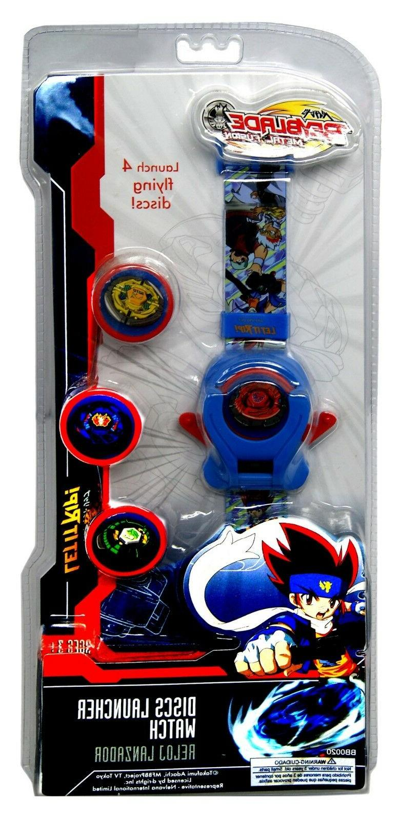 Beyblade Launcher Watch,Time&Date,Official Licensed