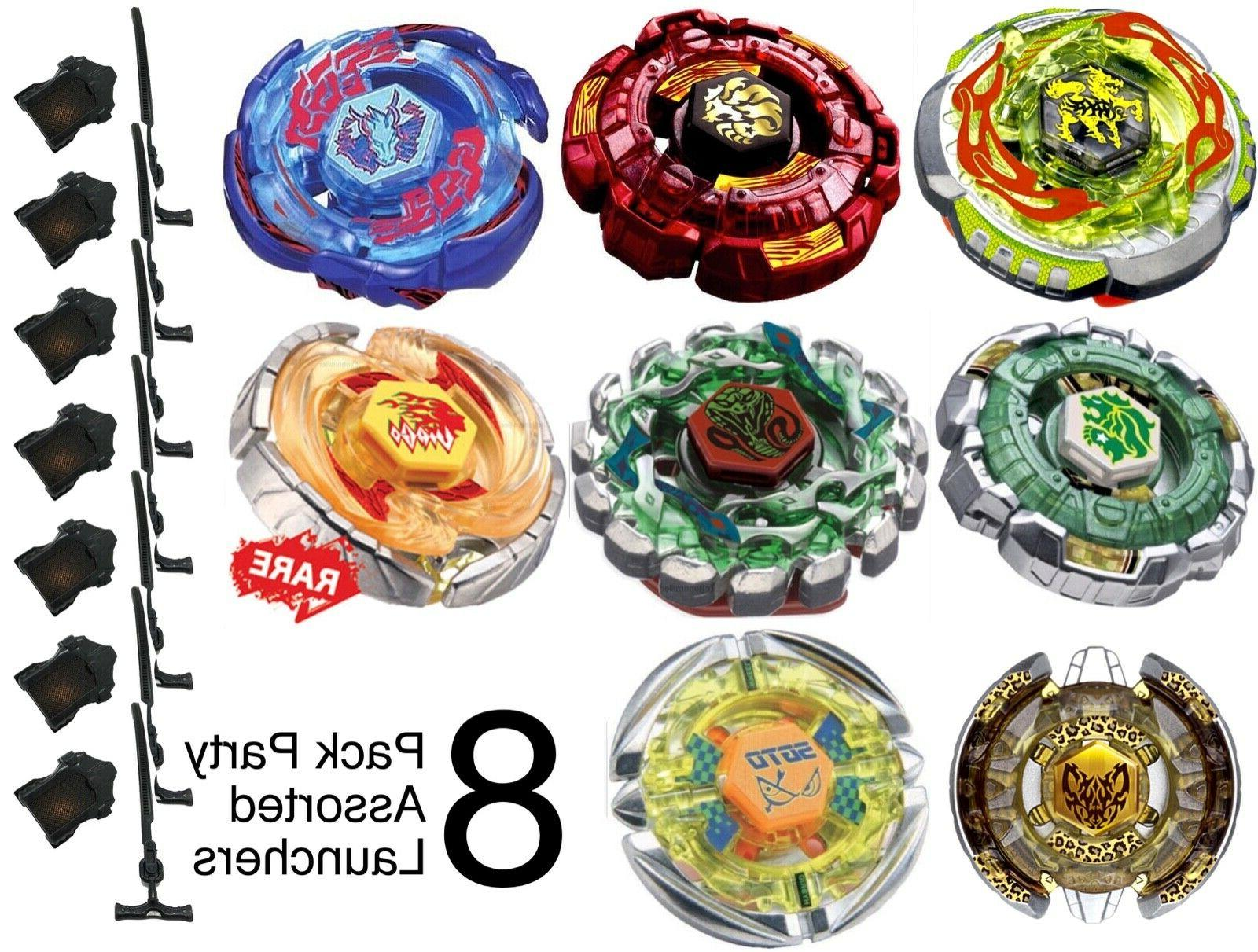 party pack lot of 8 assorted beyblades