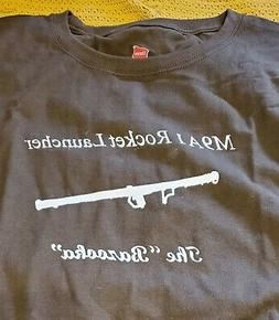 M9A1 Rocket Launcher Bazooka T-Shirt LARGE White on Fatigue