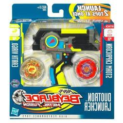 Beyblades Metal Fusion Exclusive Black Duotron Launcher Incl