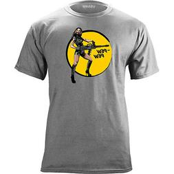 Original Pew Pew Grenade Launcher Pin-up Vintage T-shirt