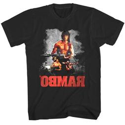 Rambo Rocket Launcher Movie Poster Men's T Shirt Stallone Ac